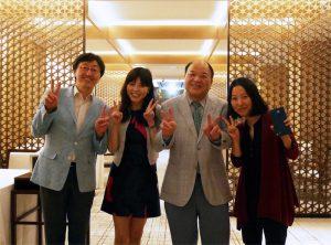 左からSeo先生、私、父、論文ファーストおーさーのジオン先生